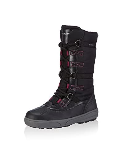 Geox Stivale J Joing B Girl Abx [Nero/Fucsia]