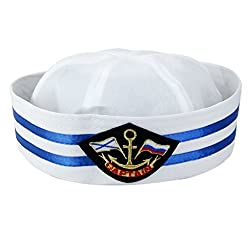 Imported Yacht Boat Captain Sailor Hat Skipper Navy Marine Cap Costume Party Dress 3
