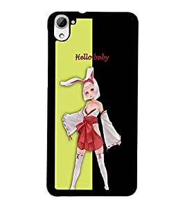 PrintDhaba Bold girl D-3207 Back Case Cover for HTC DESIRE 826 (Multi-Coloured)