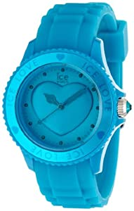 ICE-Watch - Montre femme - Quartz Analogique - Ice-Love - Aber blue - Unisex - Cadran Bleu - Bracelet Silicone Bleu - LO.FB.U.S.11