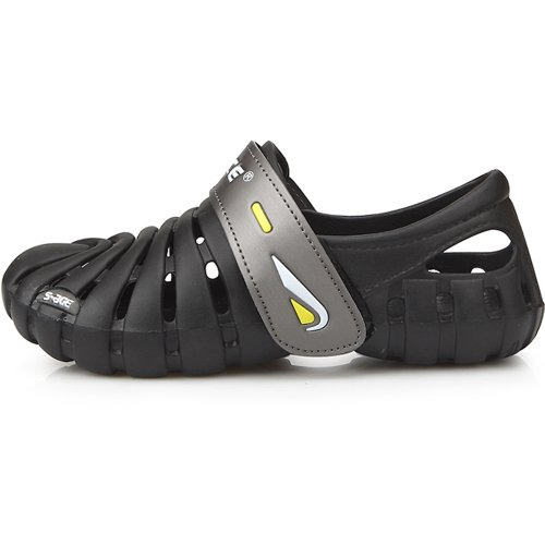 New Band Beach Aqua Water Sports Athletic Black Womens Shoes Velcro Sandals