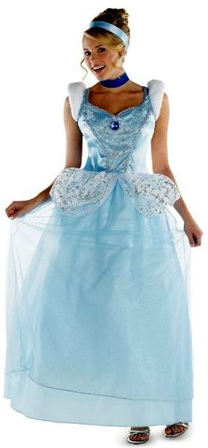 Disguise Costumes Disney Cinderella Adult Deluxe Costume, Light Blue/White, X-Large/18-20