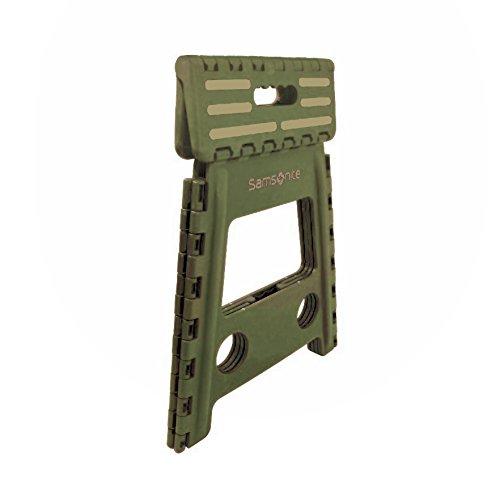 Samsonite Tall Folding Step Stool Olive Tan Hardware