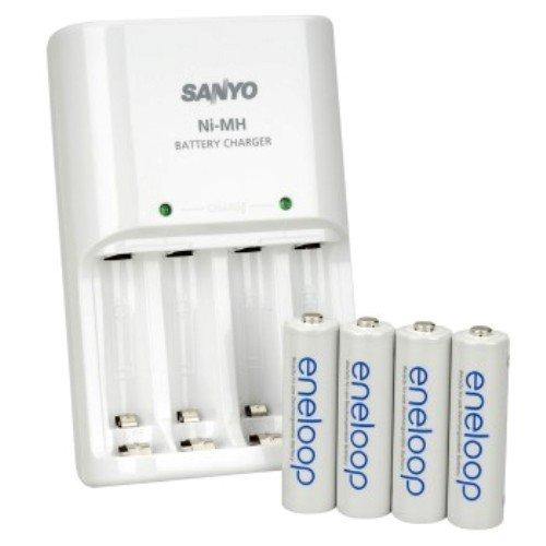 Sanyo eneloop Chargeur avec 4 piles Ni-Mh LR06 2000 mah