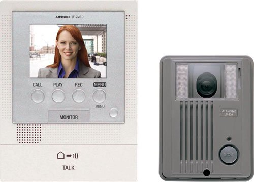 Aiphone Jfs-2Aed Audio/Video Intercom System With Surface-Mount Door Station For Single Door, Accepts An Additional Door Station And Up To Two Sub-Master Stations front-616468