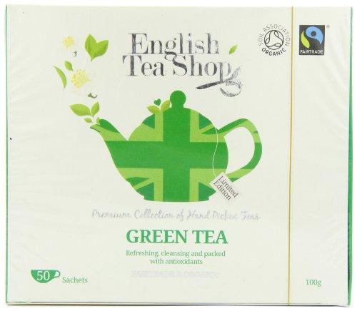 English Tea Shop Diamond Jubilee Green Tea Organic and Fairtrade Tea Bags (50 Sachets)
