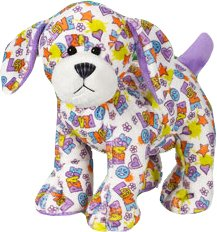 "Webkinz Peace 'N Love Puppy 8.5"" Plush - 1"