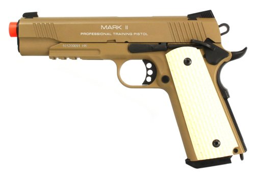 kwa 1911 mkii ptp full metal gas blowback airsoft pistol - dark earth(Airsoft Gun) (Full Metal Blowback Green Gas compare prices)