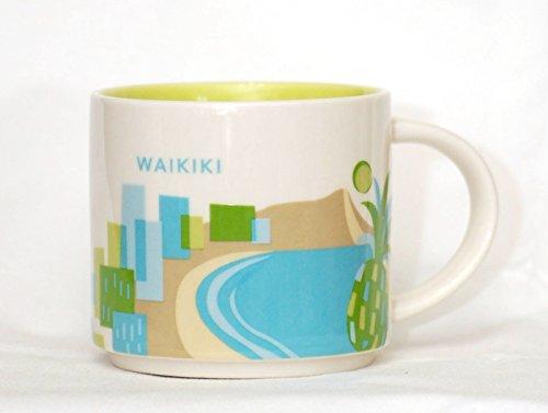 スターバックス(Starbucks) WAIKIKI ハワイ・ワイキキ限定 You Are Here Collection マグカップ 地域限定 海外限定品 414ml / 14oz