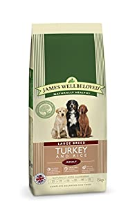 James Wellbeloved Complete Dry Dog Food Adult Large Breed Turkey 15 Kg