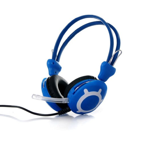 Towall 1Pc Best Stereo Headset Headband Pc Notebook Gaming Headset With Microphone(Blue)