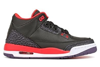 Nike Air Jordan 3 Retro GS Black Cement Grey Youth Basketball Shoes 398614-010 by Jordan