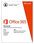 Microsoft Office 365 Personal - 1 User - 1 Year Subscription (PC/Mac)