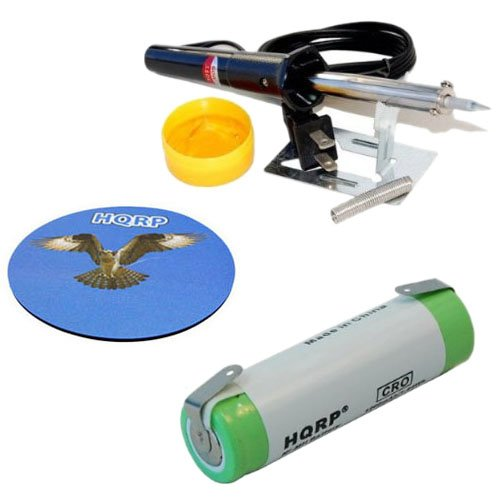 Hqrp Battery For Philips Norelco 6617X 6618X 6843Xl 6853Xl Hp2750 T2000 Razor / Shaver Plus Soldering Iron And Coaster