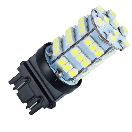 Quickfitled (1 Piece) Direct Fit 54-Smd Led Car White Reverse Tail Back Up Light For 3156 3157 3057 3757 4114 4157 T20