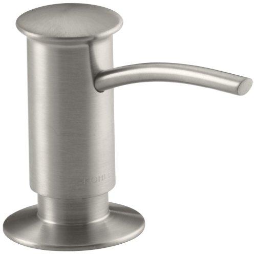 KOHLER K-1895-C-VS Soap or Lotion Dispenser with Contemporary Design (Clam Shell Packed), Vibrant Stainless