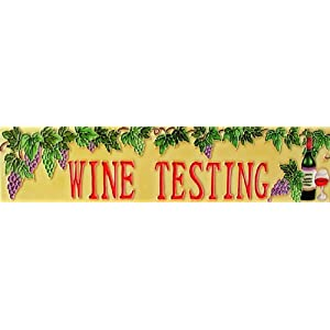 "3""x16"" Art Tile - Wine Testing"