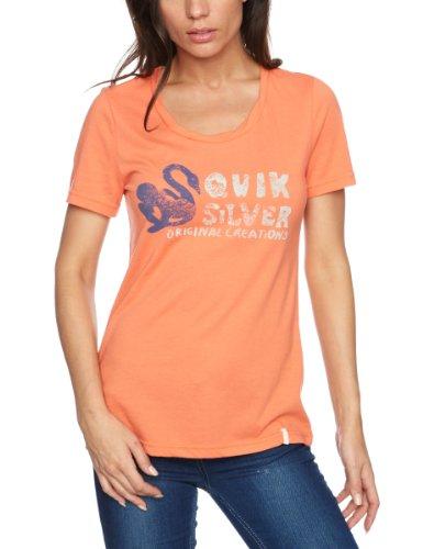Quiksilver Original Swan Crew Plain Women's T Shirt Deep