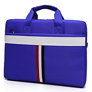 ZYSTERT 14 -15.6 Inch Laptop Bag Shoulder Bag With Strap Multi-Compartment Messenger Hand Bag Briefcase for Laptop / iPad Pro / Tablet / Macbook / Ultrabook / Men / Women (15.6 Inches, Blue (02)) by ZYSTERT