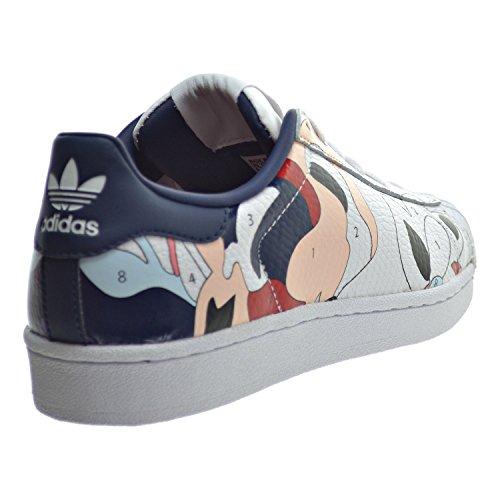 Adidas Superstar Rita Ora W Women's Shoes White/White/Night Indigo s80289 (8 B(M) US)
