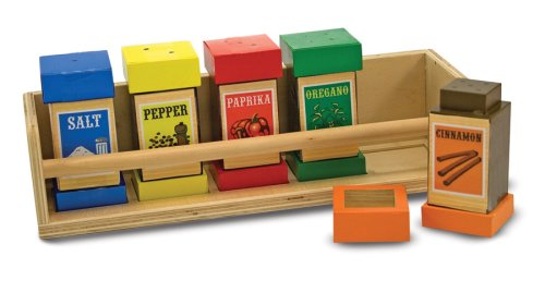 Melissa & Doug Deluxe Wooden Spice Rack Set - Buy Melissa & Doug Deluxe Wooden Spice Rack Set - Purchase Melissa & Doug Deluxe Wooden Spice Rack Set (Melissa & Doug, Toys & Games,Categories,Play Vehicles,Wood Vehicles)