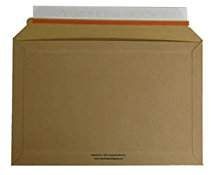 A4 334mm x 234mm Rigid Book DVD Cardboard Envelopes Mailers qty 50