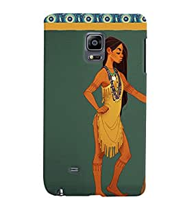 Fuson Nice Girl Back Case Cover for SAMSUNG GALAXY NOTE EDGE - D3652