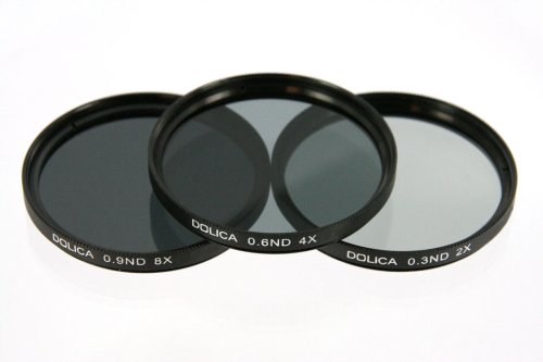 Dolica CF-NDK62 62mm 0.3, 0.6, 0.9ND Neutral Density Filter Kit