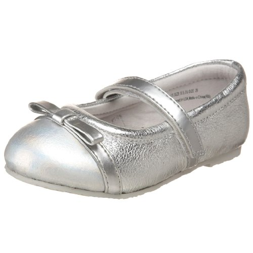 pediped Flex Penny Mary Jane (Toddler/Little Kid),Silver,20 M EU (5 M US Toddler)
