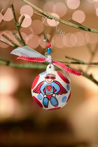Glory Haus 2050112 Super Boy Ball Ornament Pack of 2