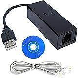 HDE External USB 2.0 56K Fax Data Phone Voice Over Internet Modem Package