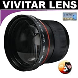 Vivitar Series 1 High Definition 3.5X Telephoto Lens For The Samsung SMX-F44, F43, Digital Memory Camcorders