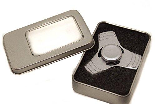 Fidget Finger Spinner Hand Focus Ultimate Spin Aluminum EDC Bearing Stress Toys - Matte Silver