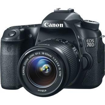 "Canon 20Mp Eos 70D Digital Slr Camera With 18 X 55 Is Stm Lens 20Mp Eos 70D Digital Slr Camera With 18 X 55 Is Stm Lens 9.5000"" L X 7.0000"" W X 5.5000"" H X"
