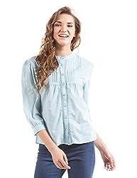 Prym Women's Body Blouse Shirt (1011518502_Light Blue _X-Large)