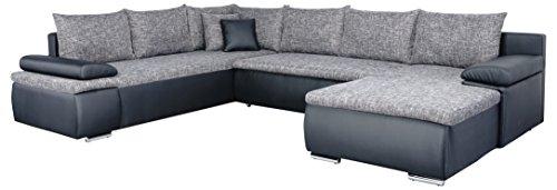 Mein-Sofa-CUSoft11-XXL-Wohnlandschaft-Cali-mit-Schlaffunktion-und-Bettkasten-circa-180-x-322-x-250-cm-Sitzhhe-42-cm-Mix-aus-Kunstleder-und-Webstoff-Recamiere-links-oder-rechts-verwendbar