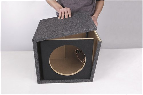 "Fierce Audio - 10"" Single Ported Flat Pack Subwoofer Enclosure Fpsp110.1"