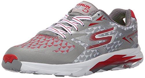 Skechers Performance Men's Go Run Ride 5 Running Shoe, Gray/Red, 9.5 M US