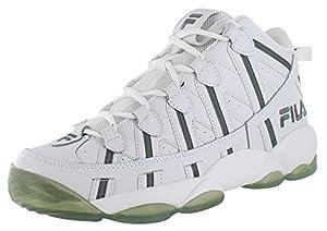 Fila Spaghetti Men's Retro Basketball Shoes Sneakers White Size 14