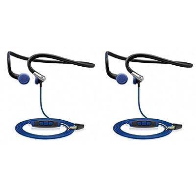 (2) Sennheiser PMX 685i Adidas Sports MP3/iPhone/iPod Neckband Headphones w/ Mic