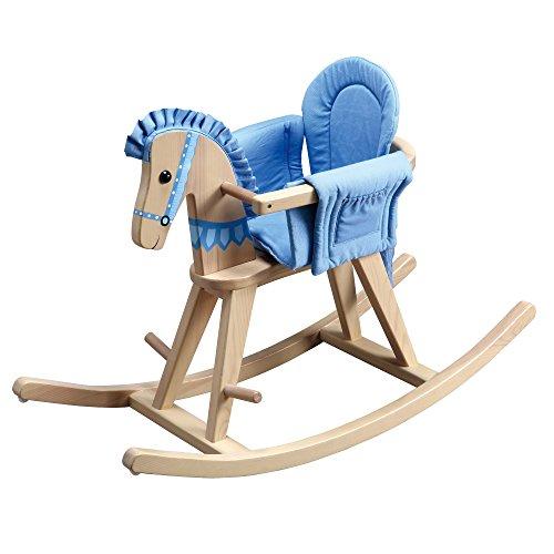 Teamson - Balancín forma caballo con cojín, color azul (TD-0002A)
