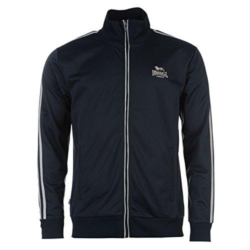 Lonsdale Giacca Training da uomo giacca sportiva Sport tempo libero chiusura lampo Blu marino/grigio L