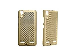 Loopee Heat Dissipation Hollow Ultra Thin Hard Back Case Cover for Lenovo A6000/A6000 PLUS - Gold