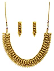 Fida Gold Jewellery Set With Necklace And Earrings For Girls/Women(Gold)
