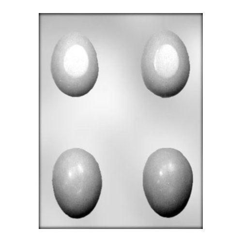 CK Products 3-Inch 3-D Plain Egg Chocolate Mold