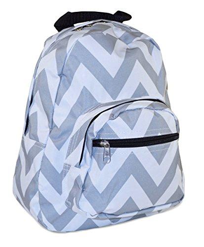 Toddler Backpack, Chevron Print (Grey White)