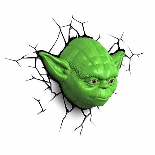 3D Light FX Star Wars Yoda Face 3D Deco LED Wall Light