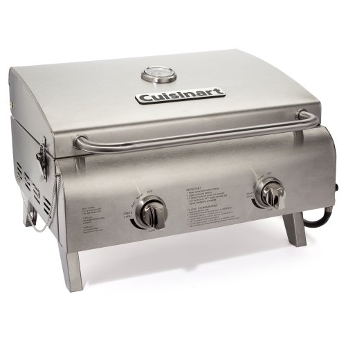 New Cuisinart CGG-306 Chef's Style Stainless Tabletop Grill