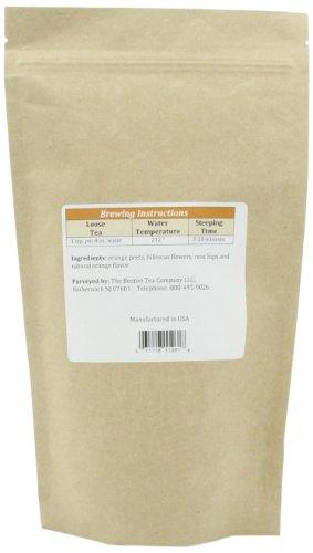 Boston Tea's Finest Grade Loose Blood Orange Herbal Tea, 8-Ounce Pouch