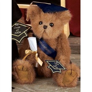 Smarty Bearington Dressed Teddy Bear Class of 2008 Graduation Stuffed Animal Gift by Bearington Collection